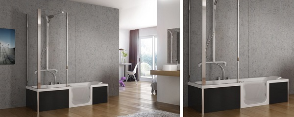 duo de kinedo combin baignoire et douche. Black Bedroom Furniture Sets. Home Design Ideas